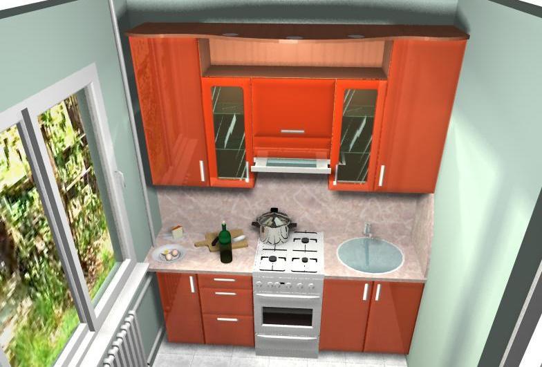 Кухонный гарнитур в хрущевке своими руками
