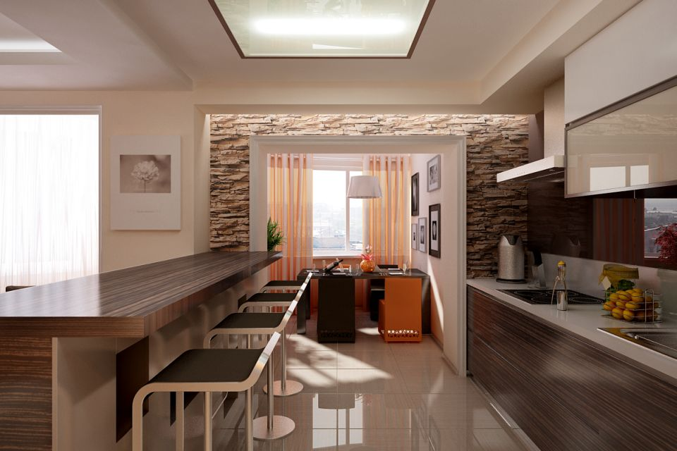 Дизайн проект дома кухня