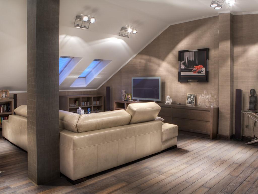 Мансардный этаж дизайн интерьер