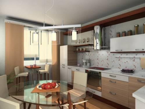 Ремонт кухни 9 квм в панельном доме с балконом