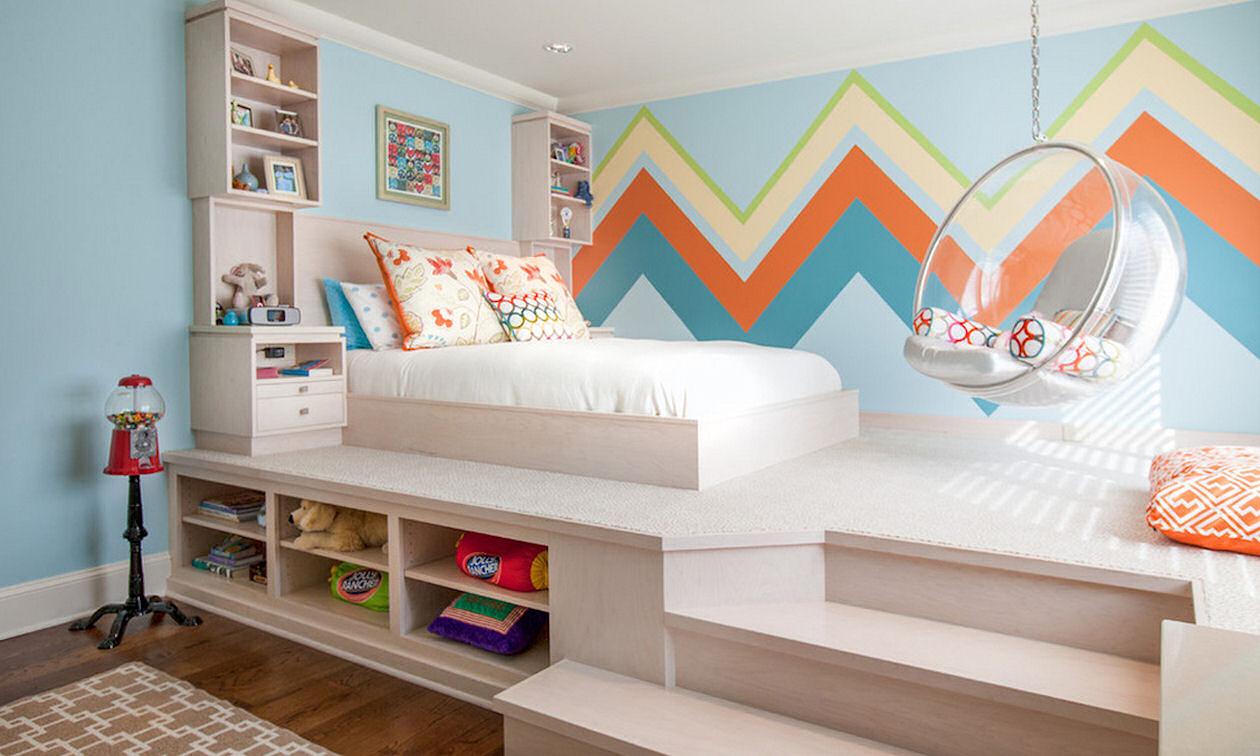 Дизайн комнат для девочек подростков с подиумами