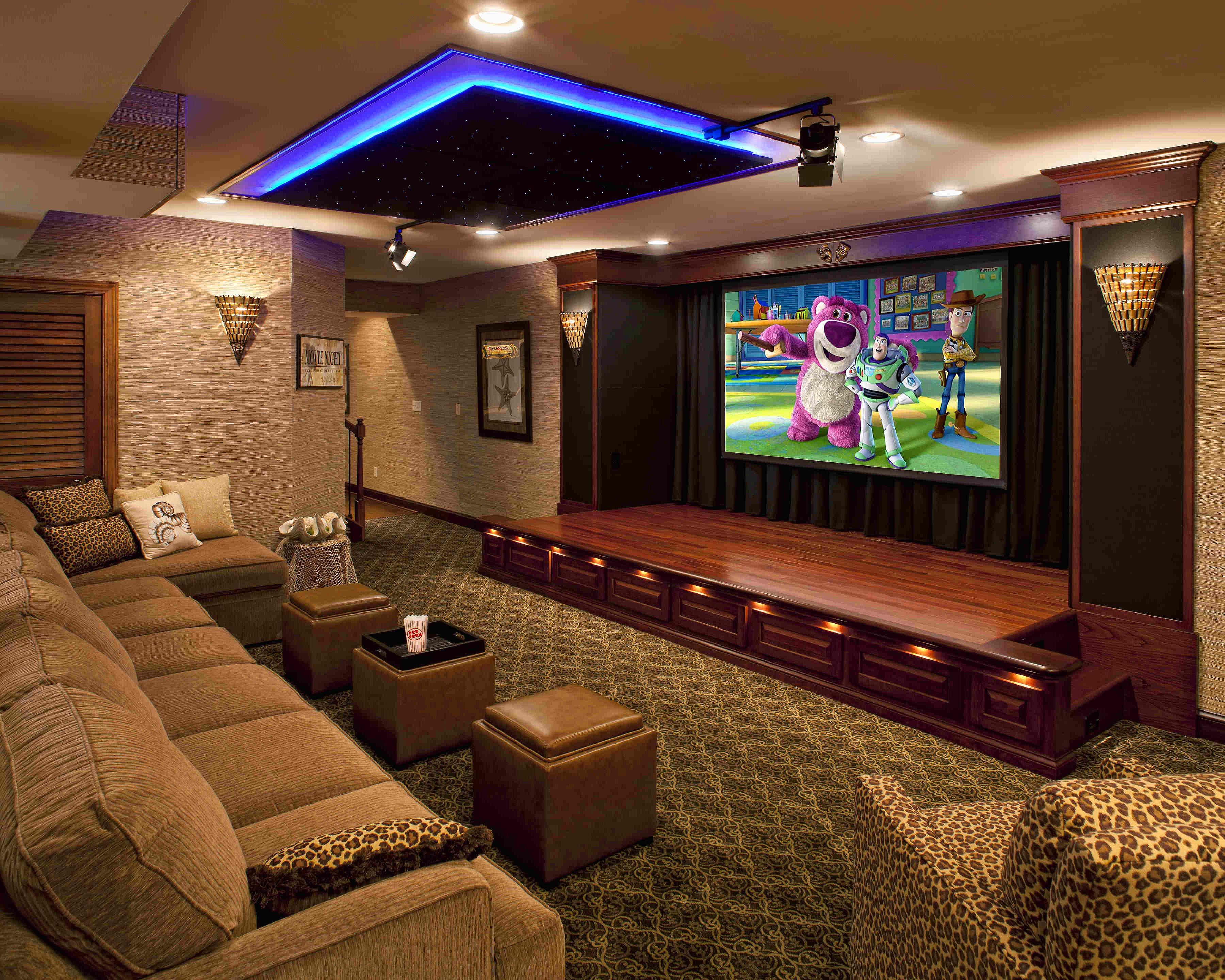 Дизайн кинотеатров в доме