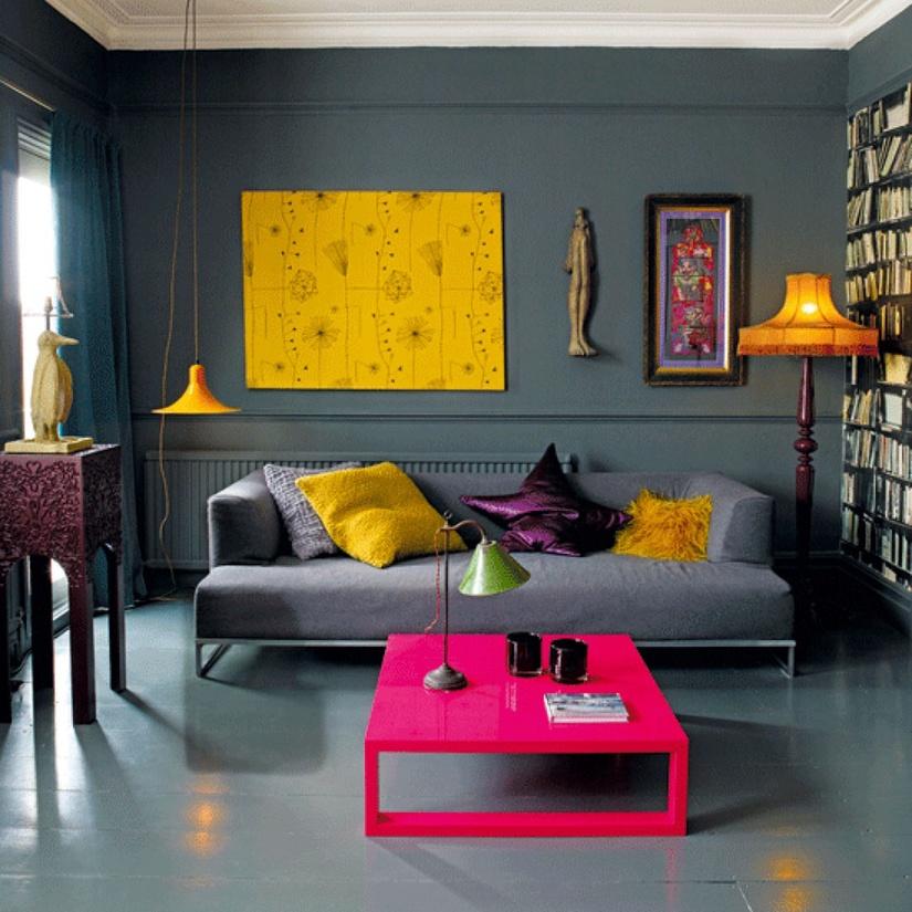 Дизайн интерьера с акцентом на цвет