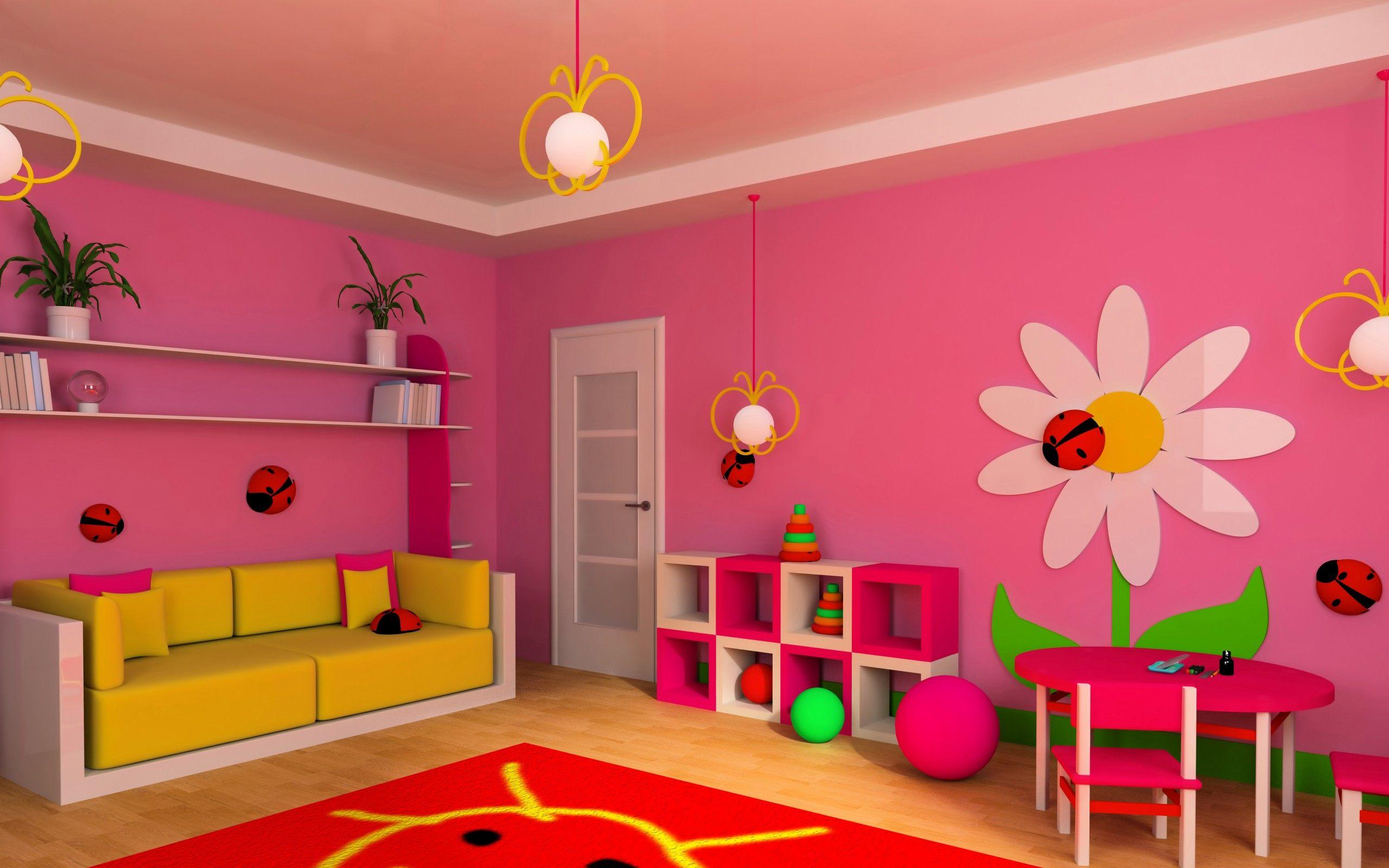 Детская комната обои для рабочего стола