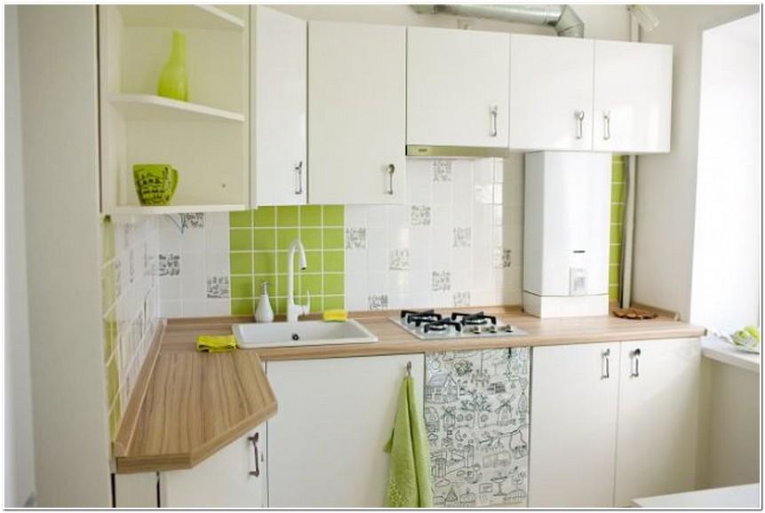 Дизайн маленькой кухни в хрущевке с колонкой светлая кухня.