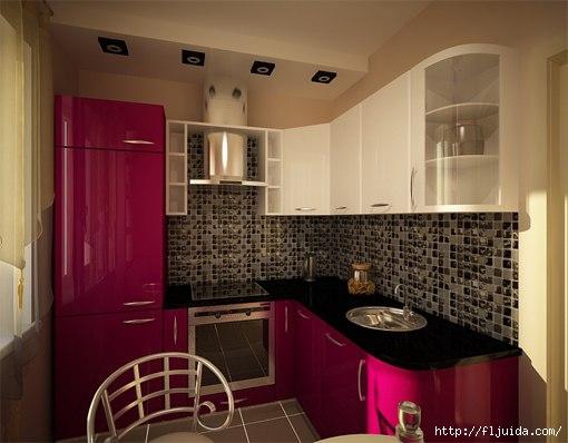 Кухня оригинальный дизайн 9 кв метров
