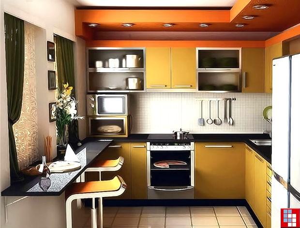 Как сделать из маленькой кухни красивую
