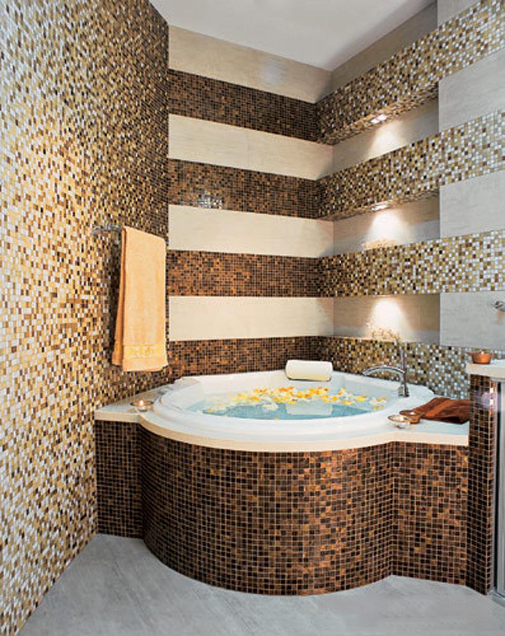 Мозаика в ванной комнате дизайн реальные