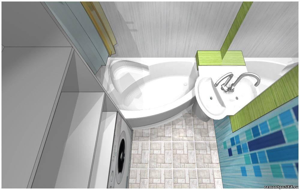 Дизайн ванной комнаты 3 кв м со стиральной машиной