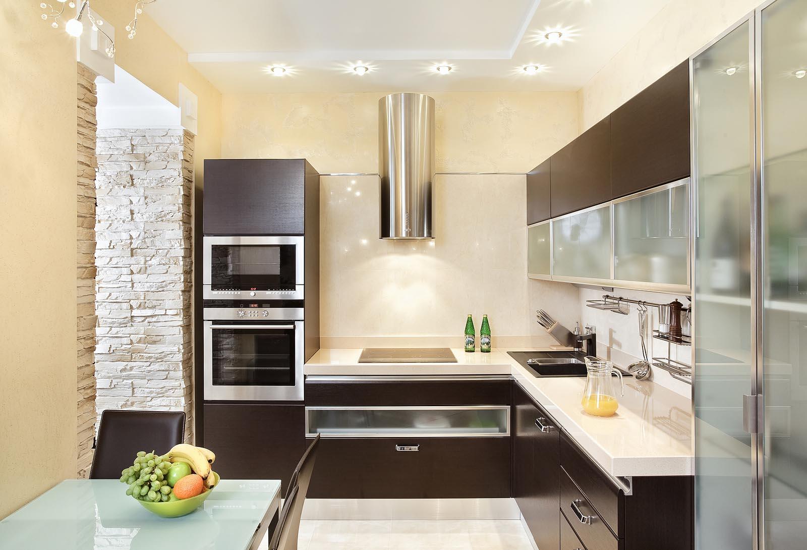 Фото дизайн интерьера угловой кухни для квартиры