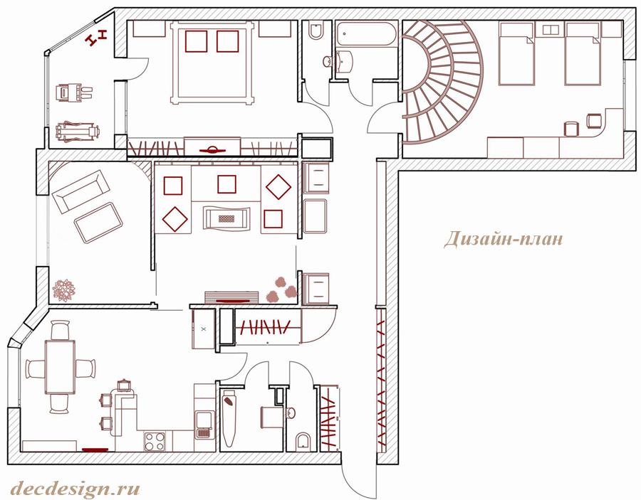 Дизайн проекты 3-х комнатных квартир с