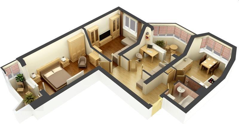 Дизайн проекты для 3 комнатной квартиры
