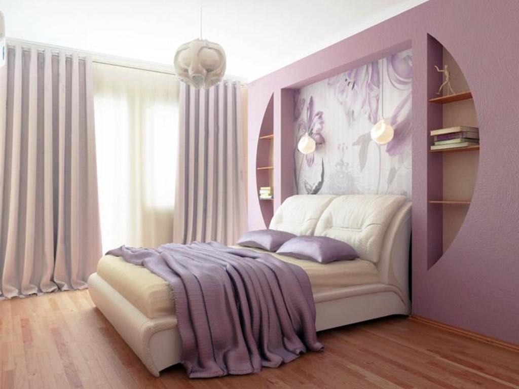 Дизайн спальни 16 кв м с двумя окнами