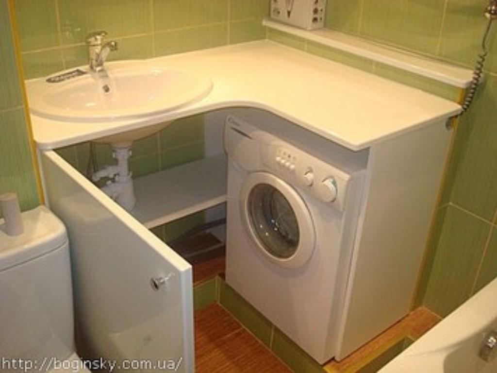 Дизайн ванной комнаты маленькой с стиральной машиной
