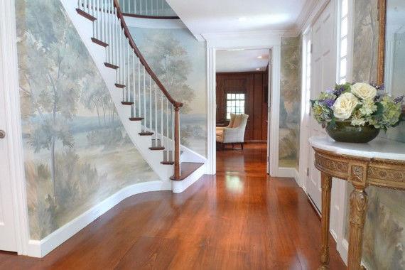 Фотообои в интерьере фото лестница