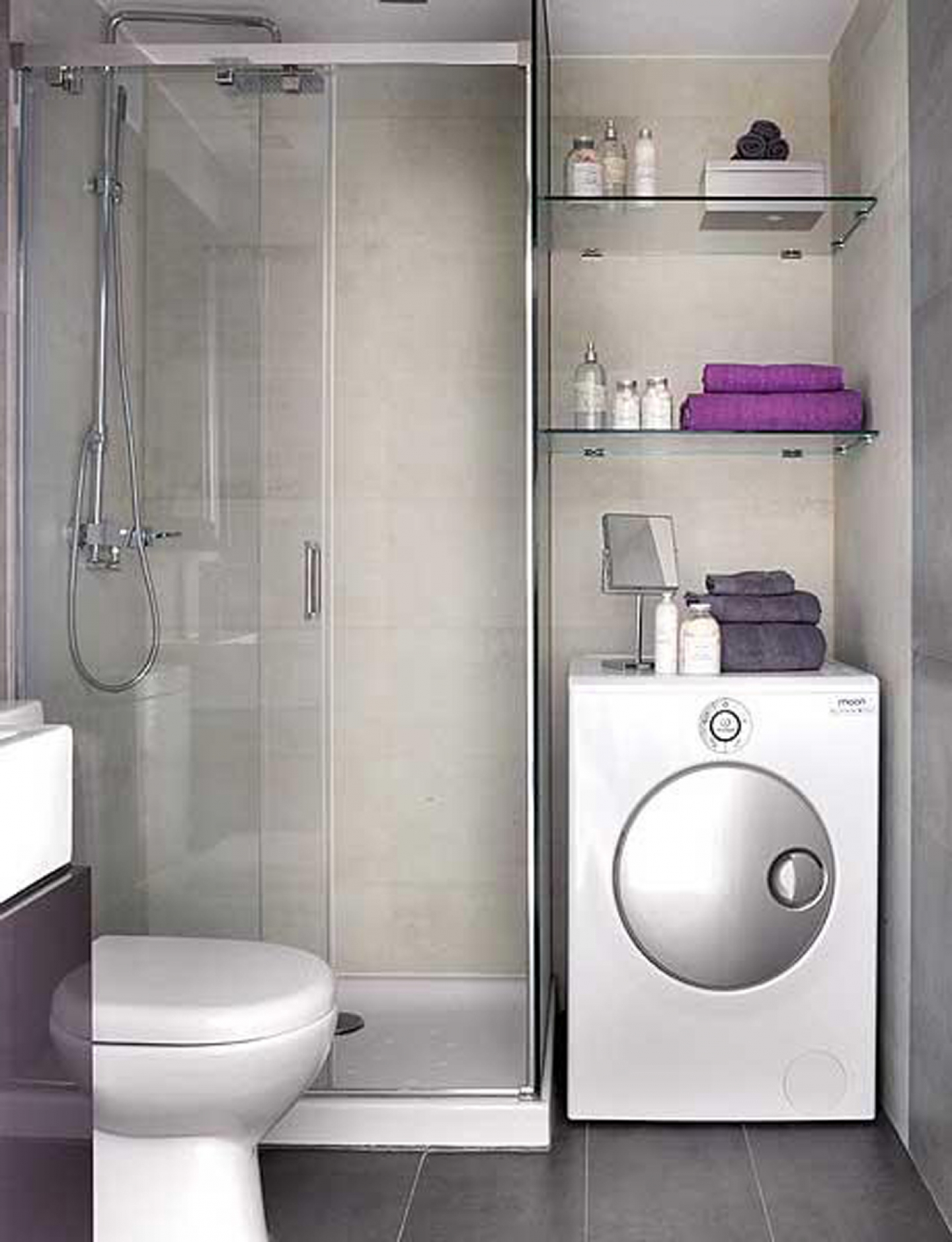 Дизайн маленькой ванны с кабиной