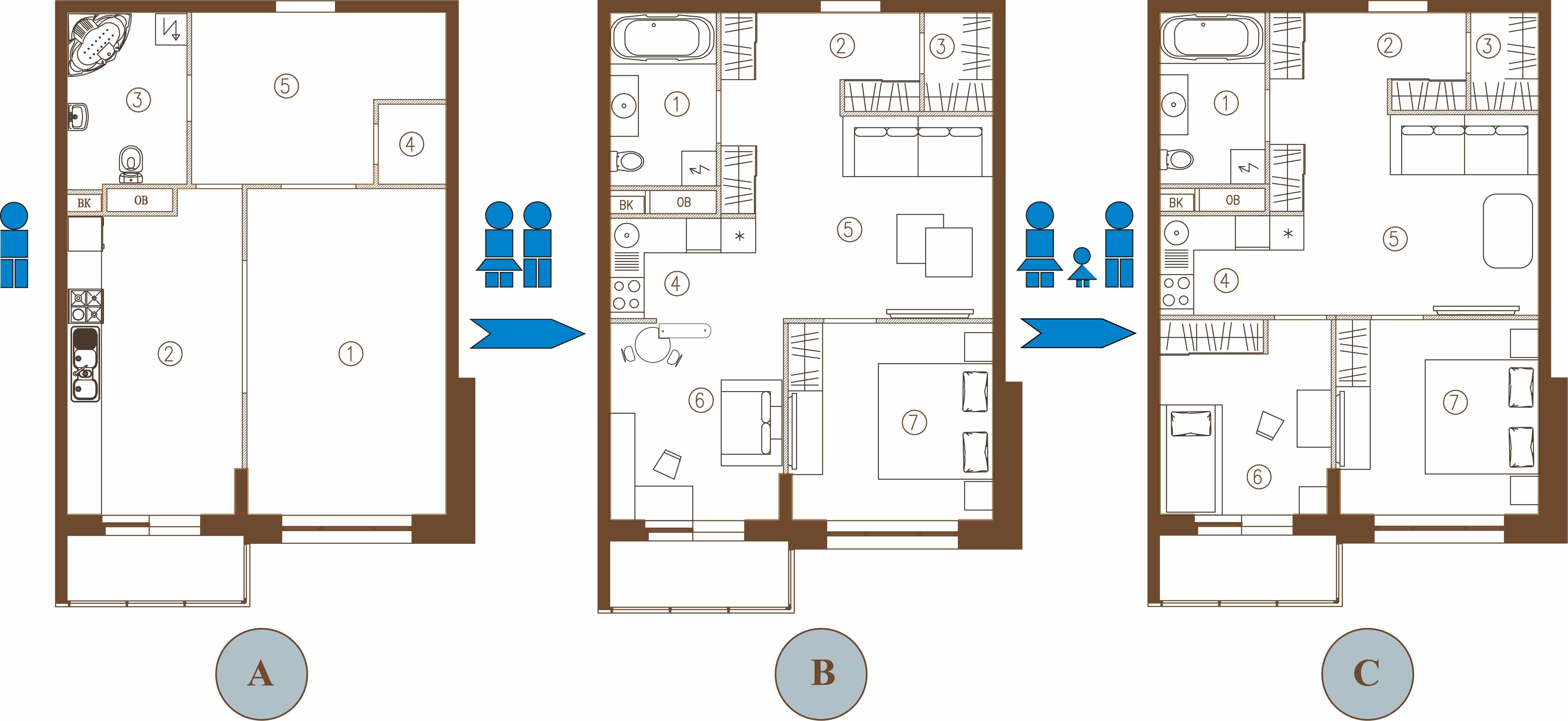 Как сделать из 1 комнатной квартиры 2
