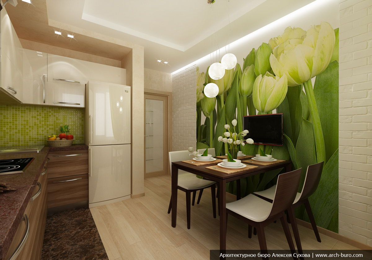 Дизайн кухни в квартире 10 кв м