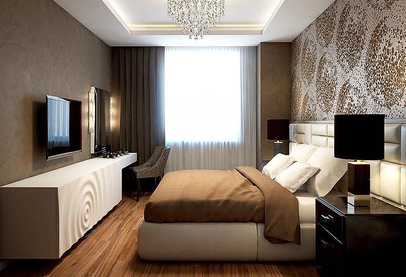 Спальня дизайн шоколадные тона 12