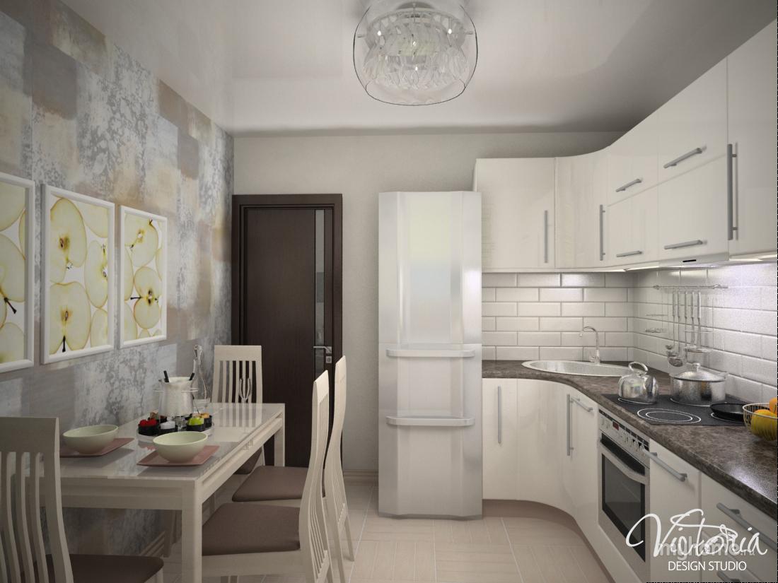 Интерьер кухни для малогабаритной фото