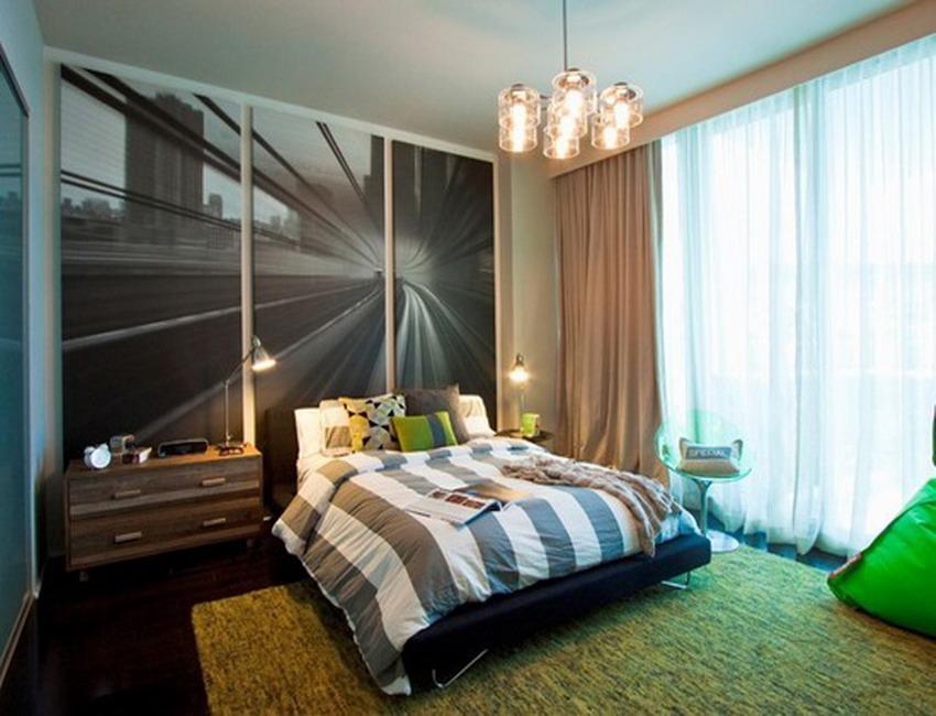 Дизайнобоев в спальне для мальчика