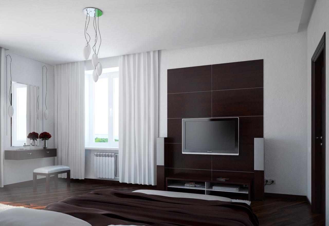 Дизайн комнаты с угловым окном