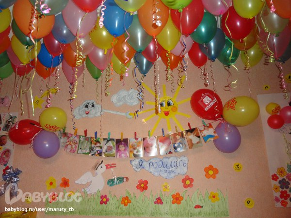 Оформление ко дню рождения ребенка  фото