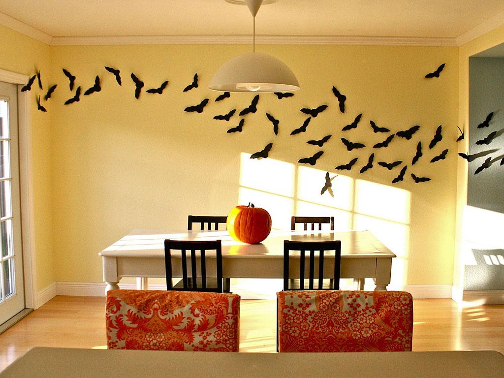 Чем украсить комнату своими руками к хэллоуину