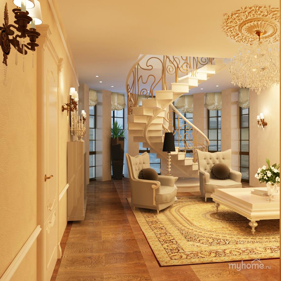 Дизайн холла как комнаты