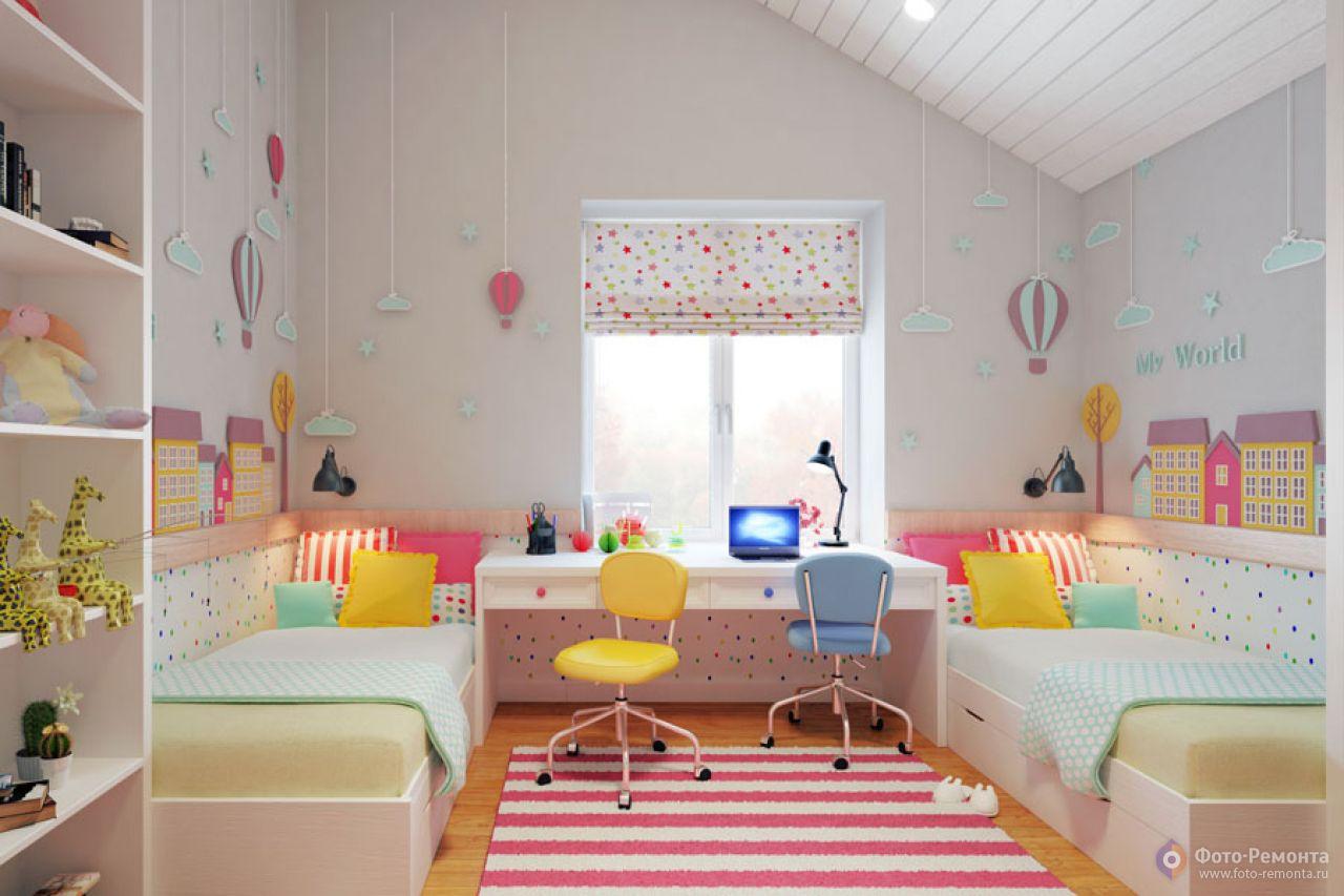 Ремонт детской комнаты для двоих девочек