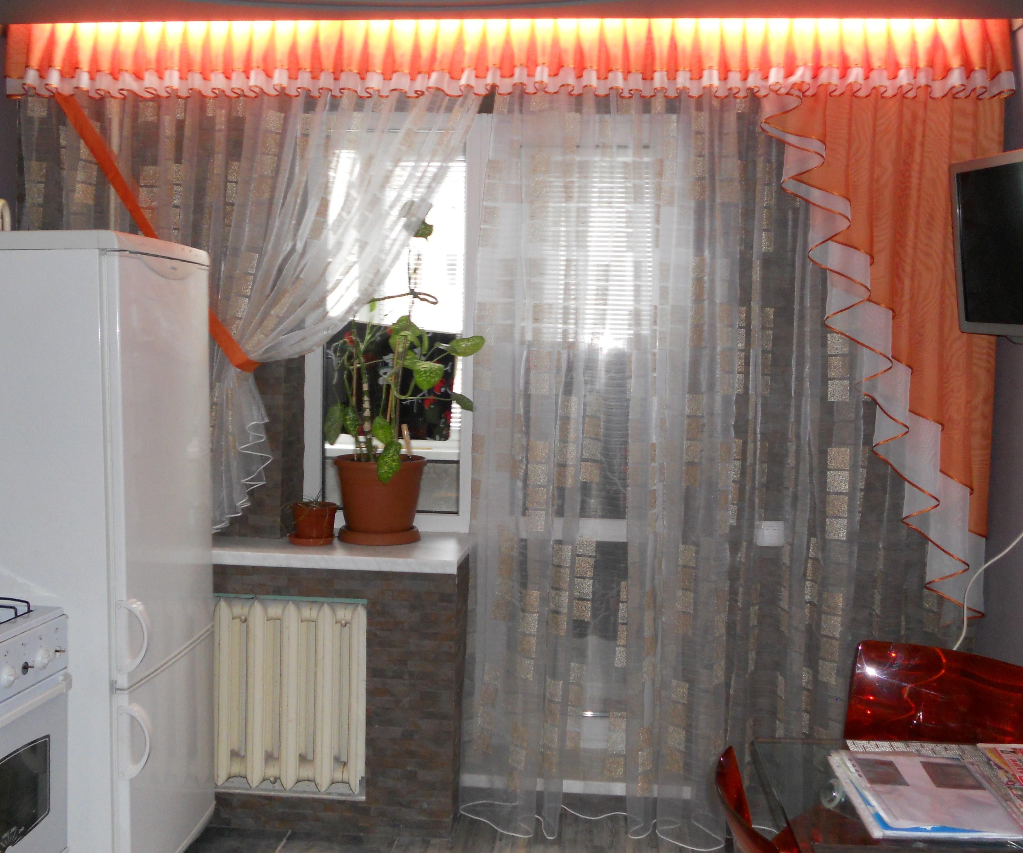 Шторы на окно с балконной дверью своими руками