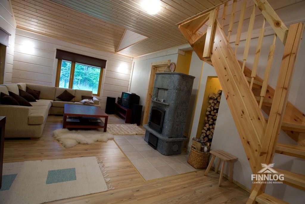 Дизайн загородного небольшого дома внутри