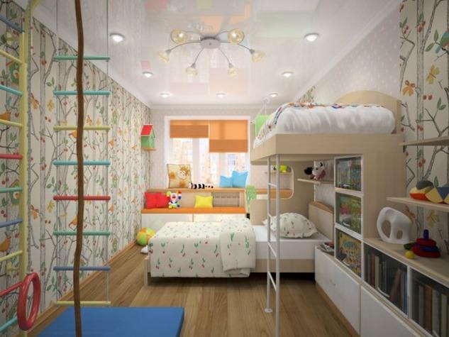 Детской дизайн 16 кв м