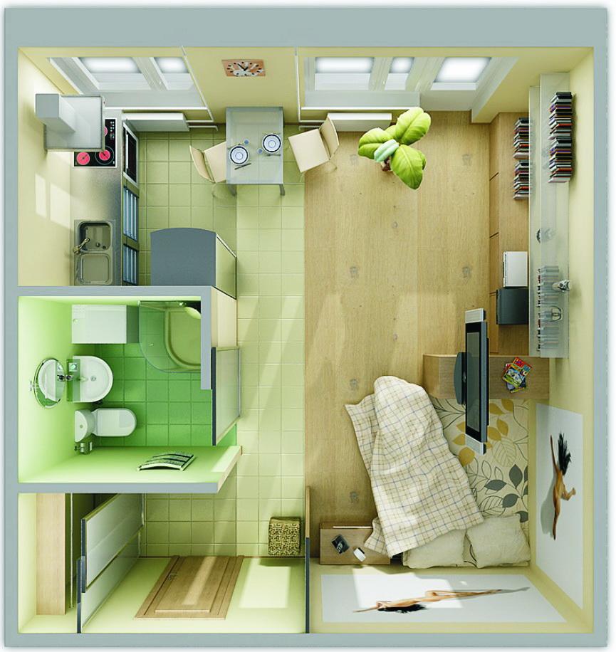 Дизайны маленькой однокомнатной квартиры