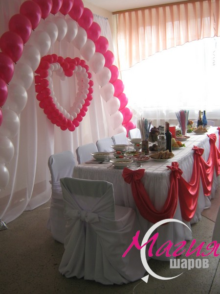 Свадебный стол жениха и невесты оформление своими руками