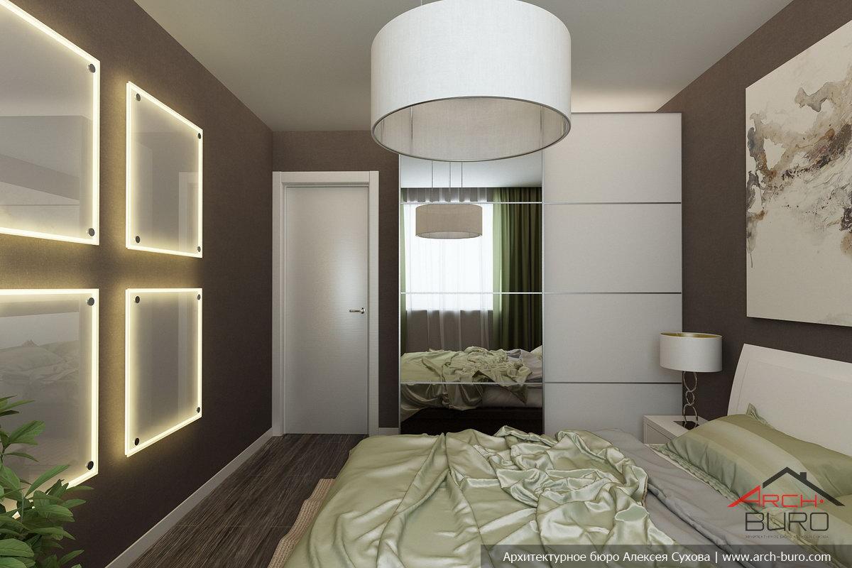 Красивый интерьер спальни в панельном доме фото в современном стиле