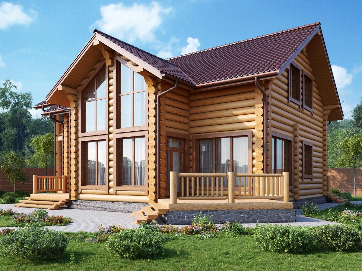 Бревенчатые дома дизайн проекты