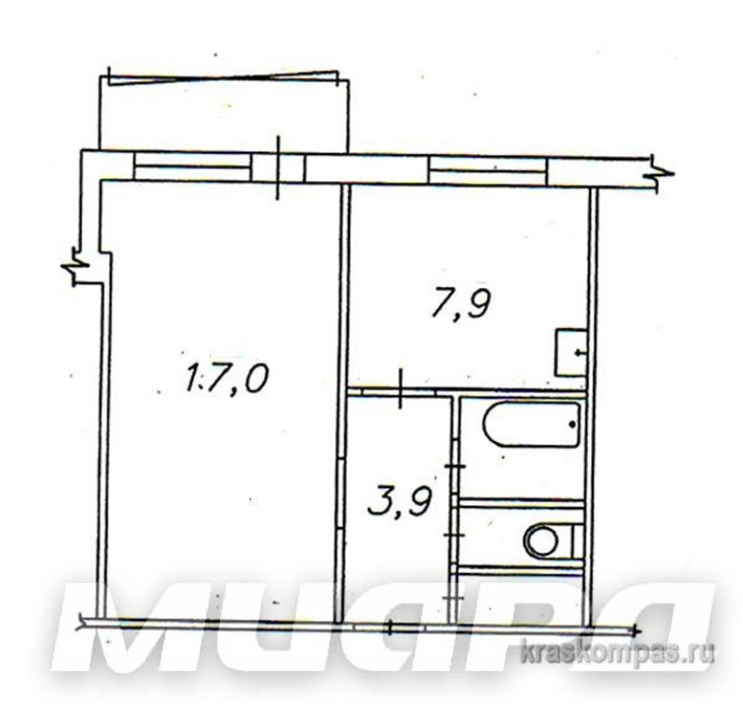 Схема однокомнатной квартиры панельный дом