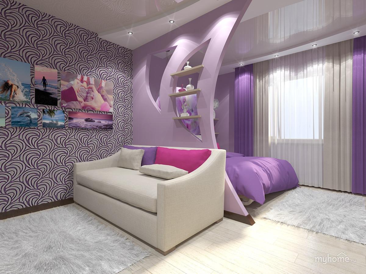 Дизайн комнаты зал и спальня в одном