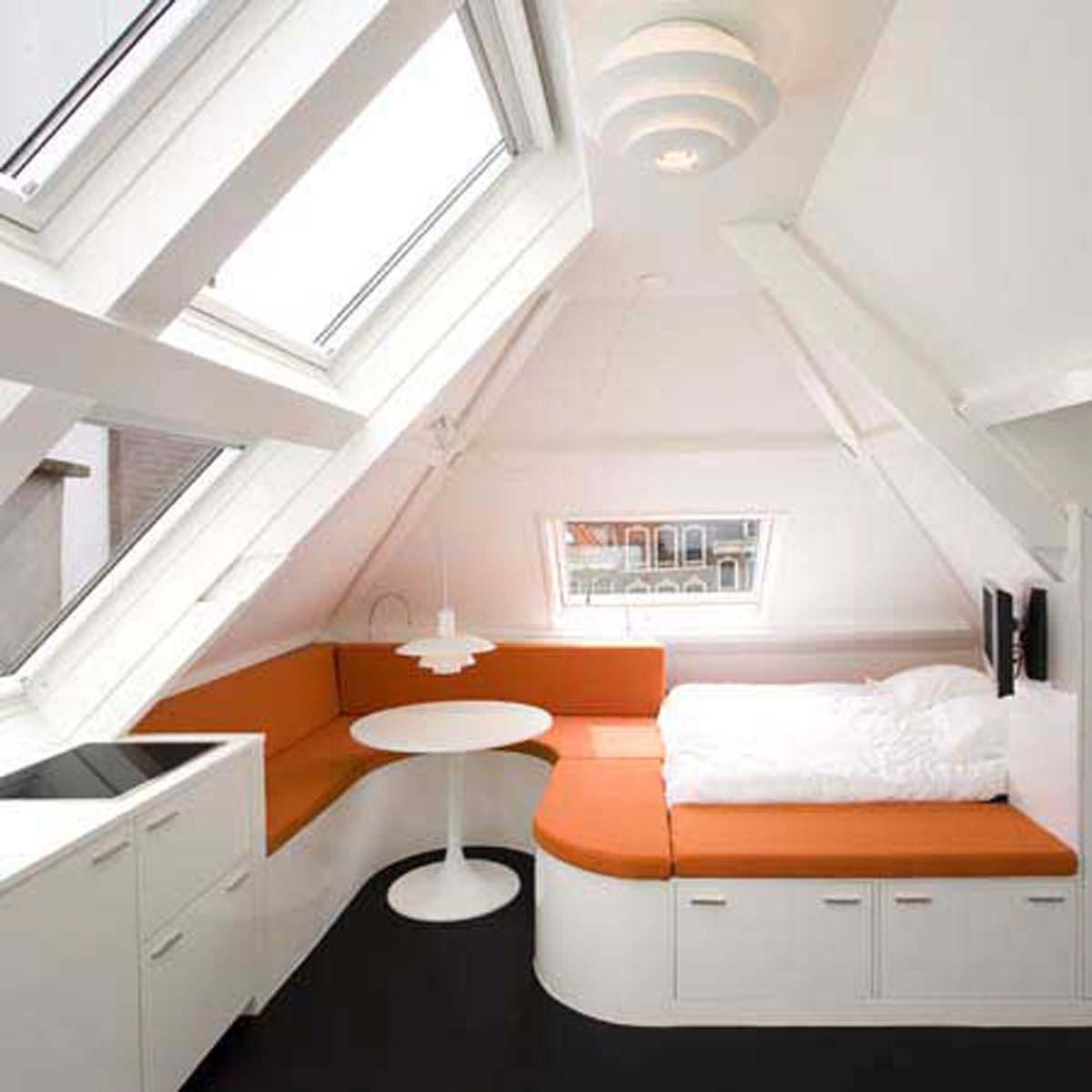 Маленькие квартиры в мансарде дизайн
