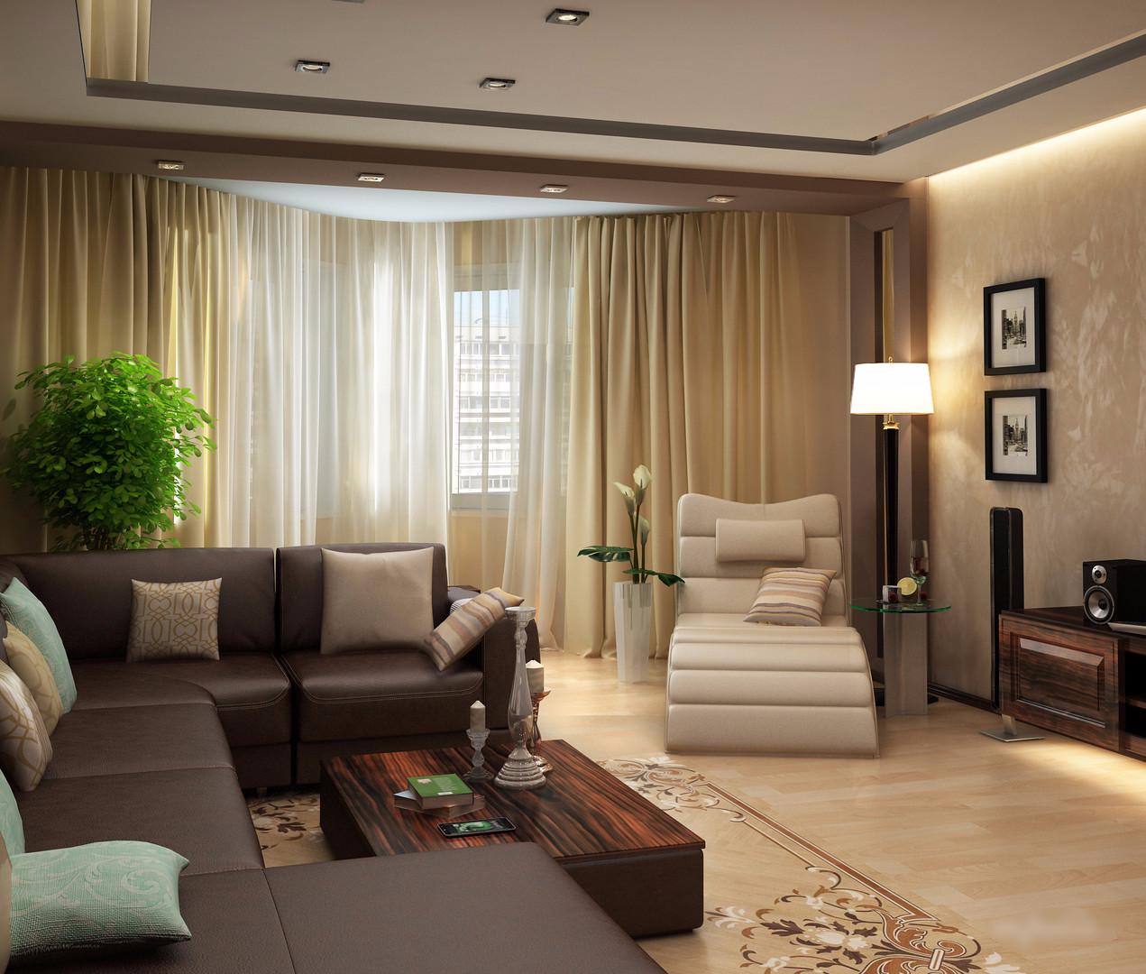 Дизайн зала 20 кв м в квартире с камином 36