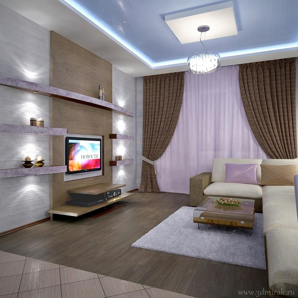 Зал 4 на 3 дизайн спальня
