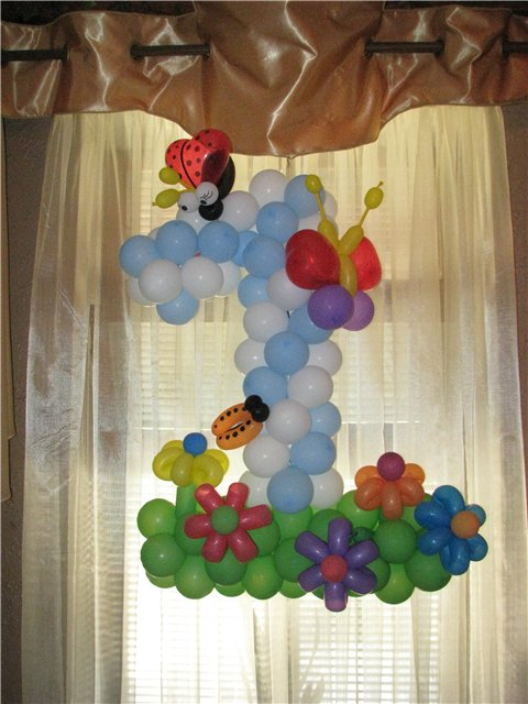 Украшение воздушными шарами своими руками на детский праздник