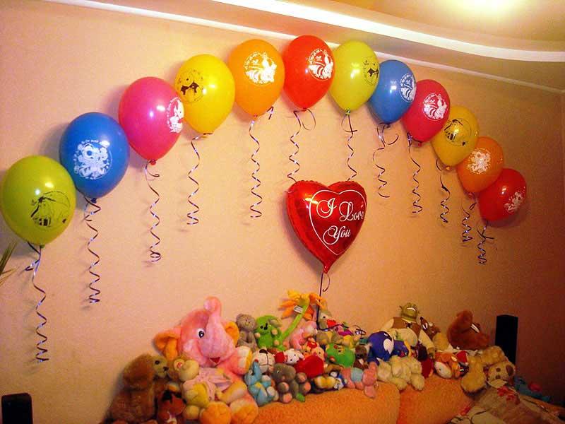 Украшение комнаты на день рождения ребенку своими руками