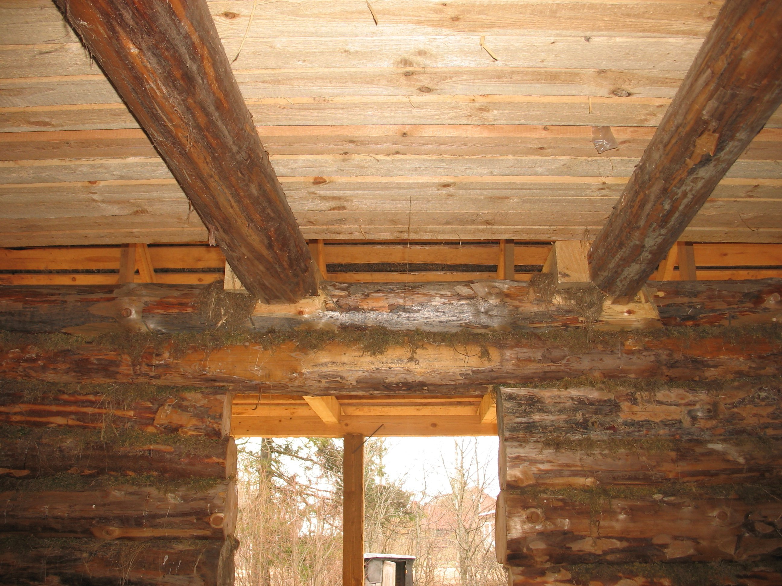 Потолок в деревянном доме своими руками фото