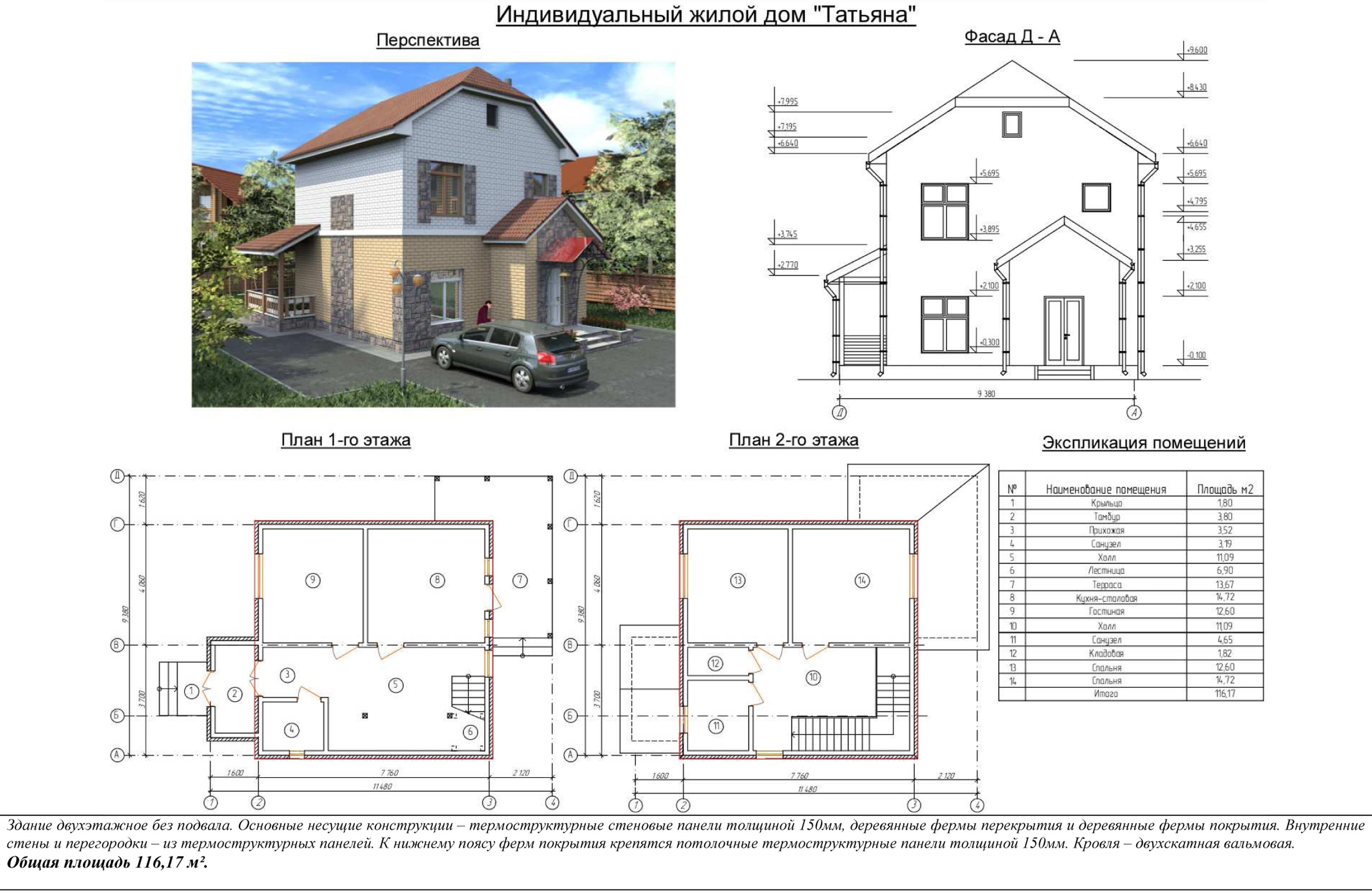 Проекты двухэтажных частных домов и схемы