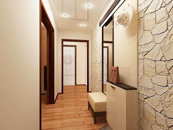 Красивый интерьер прихожей и коридора фото с лестницей