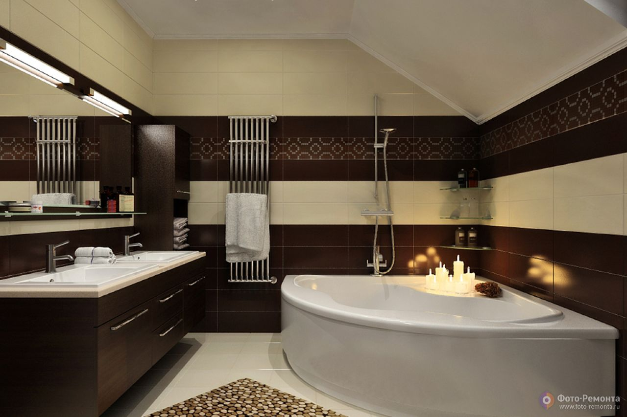 Фото коричневая ванная комната дизайн
