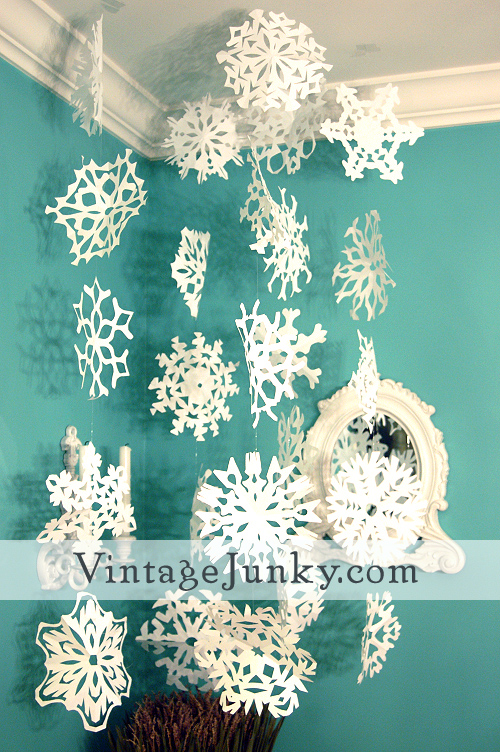 Украшаем дом к новому году своими руками снежинки