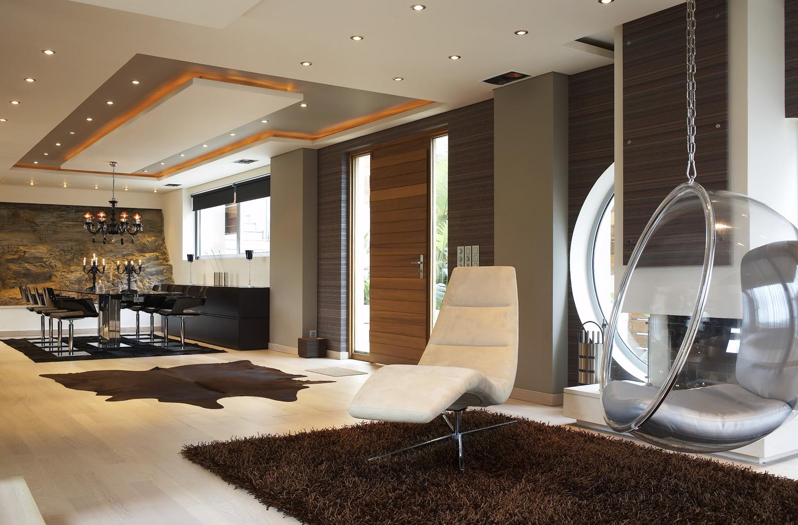 Модерн дизайн дома внутри